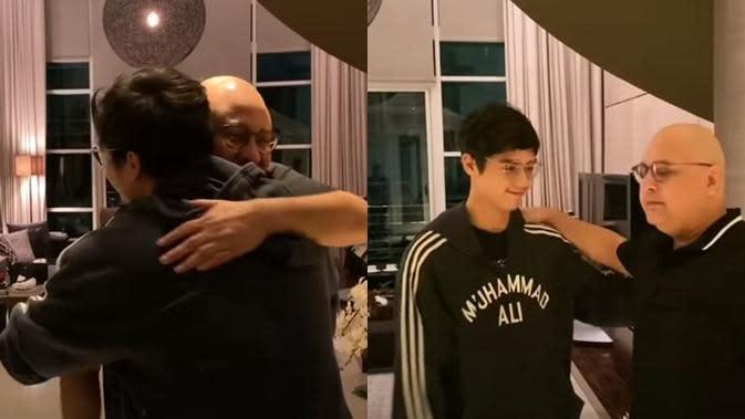 Momen kehangatan Al, El, Dul dan irwan Mussry saat buka puasa bersama. (Sumber: YouTube/Maia Estianty)