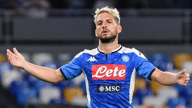 3. Dries Mertens (Napoli) - Martens saat ini menempati posisi ketiga top scorer sementara Liga Champions 2019/2020 dengan raihan 6 gol. (AFP/Andreas Solaro)