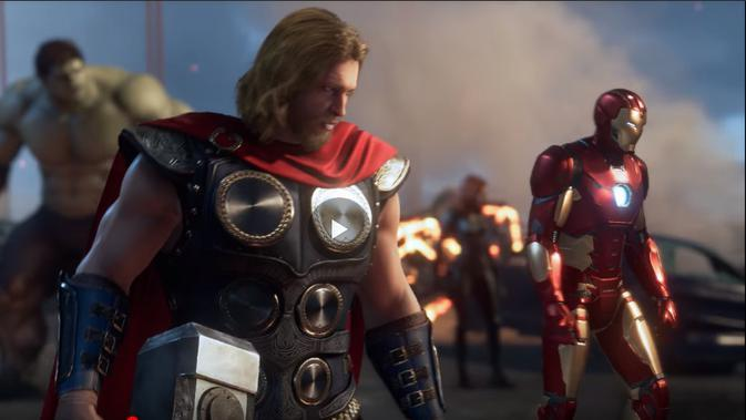 Tampilan gim terbaru dari Square Enix, Avengers (kredit: Marvel Entertainment)