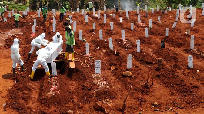 6.248 Orang Dimakamkan dengan Protokol Covid-19 di Jakarta