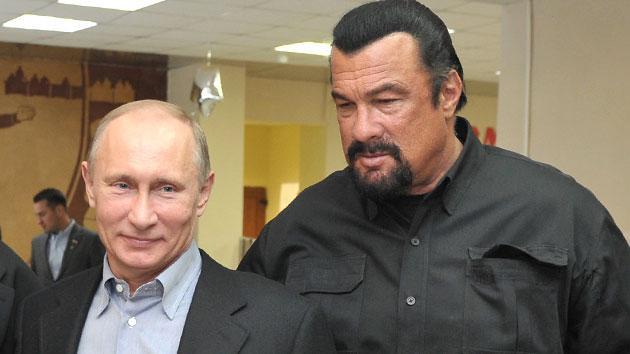 Yes, That's Steven Seagal and Vladimir Putin: BFFs Promote Fitness In Moscow