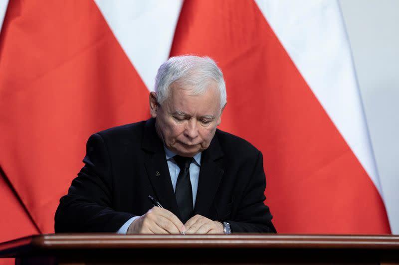 Poland's ruling party leader Kaczynski appointed deputy PM