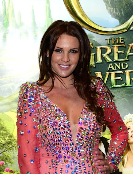 Danielle Lloyd attends Walt Disney Pictures European Premiere of 'Oz: The Great And Powerful' at the Empire Leicester Square in London on Thursday, Feb. 28, 2013. (Jon Furniss/Invision for Disney/AP)