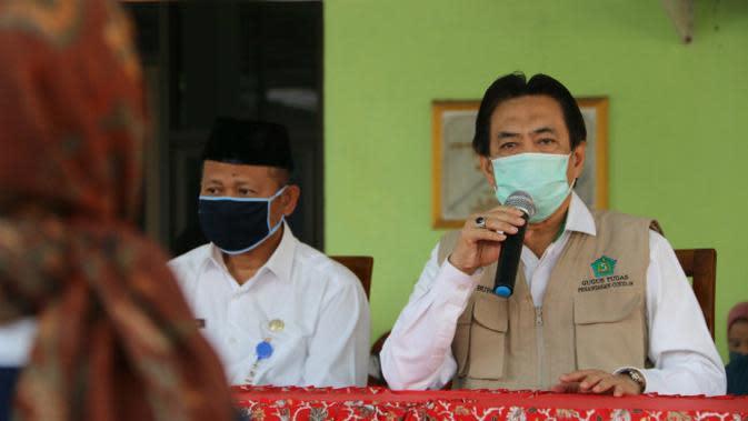 Plt Bupati Sidoarjo sekaligus Ketua Gugus Tugas Covid-19 Nur Ahmad Syaifuddin (Foto: Liputan6.com/Dian Kurniawan)