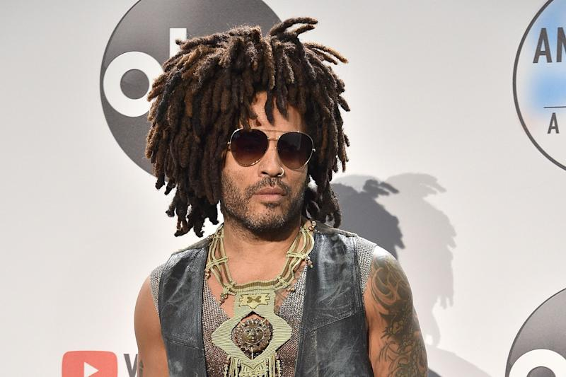 LOS ANGELES, CA - OCTOBER 09: Lenny Kravitz attends the 2018 American Music Awards - Press Room at Microsoft Theater on October 9, 2018 in Los Angeles, California. (Photo by David Crotty/Patrick McMullan via Getty Images)