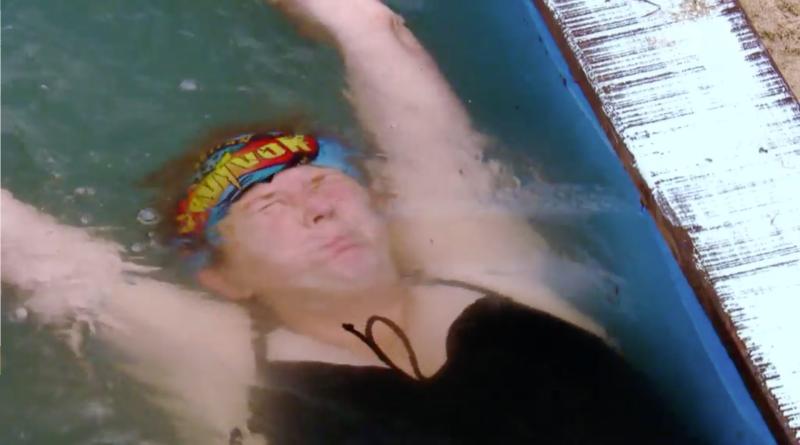 Sarah Ayles competes in Survivor 2019 challenge