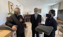 響應教宗通諭 駐教廷使館與慈濟捐贈難民毛毯 (圖)