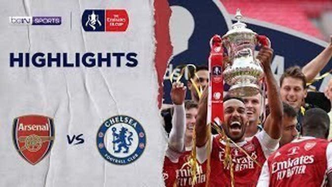 VIDEO: Highlights Final Piala FA, Dua Gol Pierre-Emerick Aubameyang Bawa Arsenal Kalahkan Chelsea 2-1