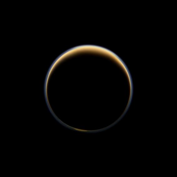 Spectacular Photos of Saturn and Titan Captured by NASA Spacecraft