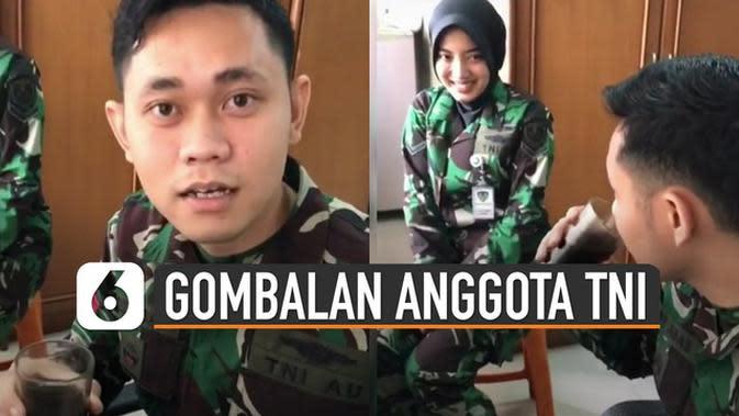 VIDEO: Kocak, Pria Berseragam TNI Minum Kopi Pahit Jadi Manis