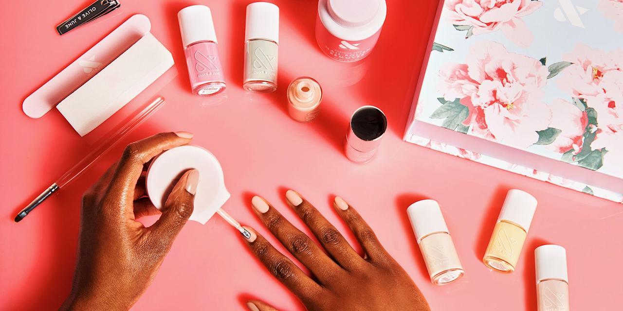 "<p>Not all nail polishes are created equal. Many formulas on the market are packed with harmful and unnecessary chemicals, <a href=""https://www.harpersbazaar.com/beauty/nails/a28557591/non-toxic-nail-polish/"" target=""_blank"">which can actually be absorbed into the body</a>.</p><p>""The top three ingredients that have been removed are formaldehyde, toluene, and dibutyl phthalate,"" says Michelle Saunders, celebrity manicurist and founder of <a href=""https://www.saundersandjames.com/"" target=""_blank"">Saunders & James</a>. ""There's a big myth around the toxicity of nail polish. You'll see 3-free, 5-free, 7-free, and so on, but 3-free is just as safe as 7-free. However, next time you see a nail polish that says '7-free,' read the rest of the ingredients listed, and look each one up so you have a better understanding.""<br></p><p>For those who prefer fewer chemicals in their manicures just to be safe, try one of these brands that omit the primary three offenders and other unsafe ingredients, while still giving you high-quality color you'll love.<br></p>"