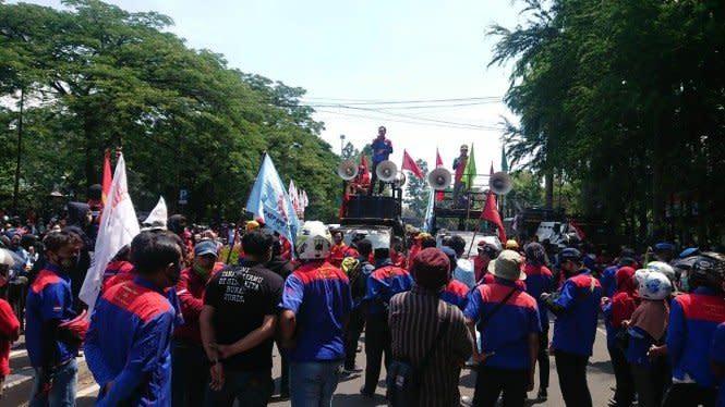 TNI dan Polri Sampai Patroli Cegah Demo Buruh di DPR