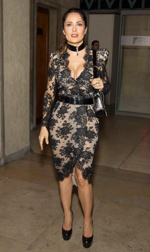 Salma Hayek Shines at Paris Events