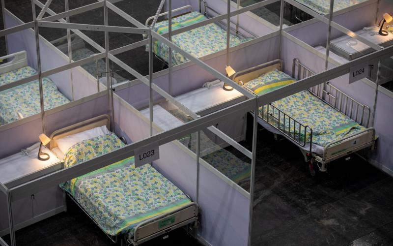 Beds for patients - JEROME FAVRE/EPA-EFE/Shutterstock