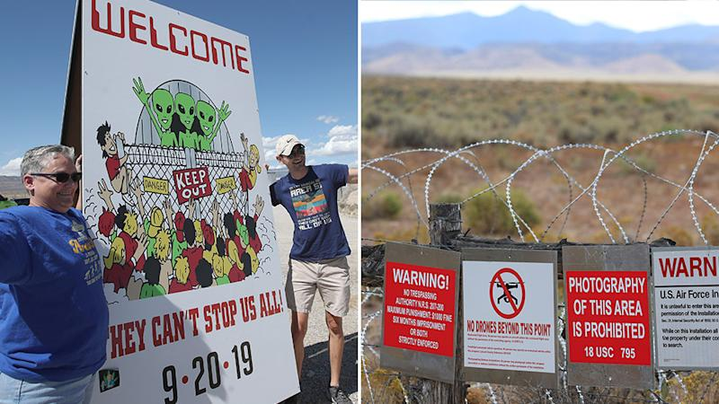 People are heading towards the small Nevada town, Rachel, for various Area 51 related festivities. Source: Getty Images.