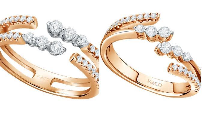 Koleksi perhiasan Blaze Ladies Ring dan Glimmer Ladies Ring dari brand Frank & Co. (dok. Istimewa)