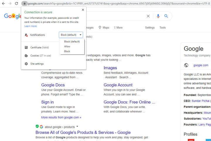 Image of Google Chrome Lock