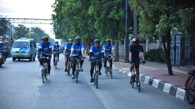 Dirikan Komunitas Sepeda, Sahroni Ajak Masyarakat Sadar Jaga Kesehatan saat Pandemi