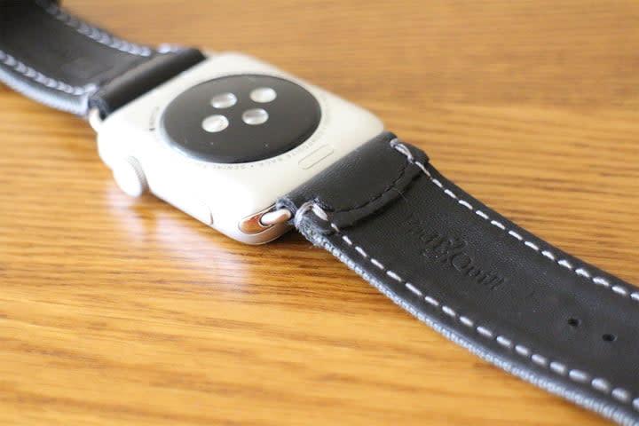 best Apple Watch bands Pad & Quill Field Strap underside