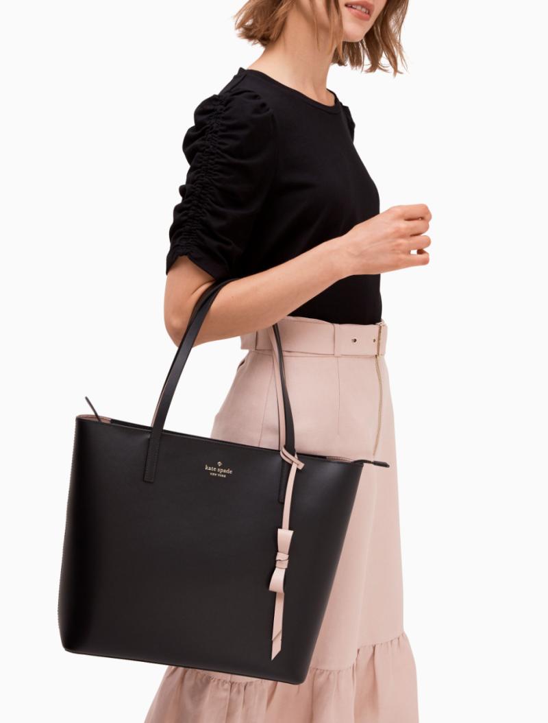 Kate Spade Lawton Way Rose Bag in Black (Photo via Kate Spade)