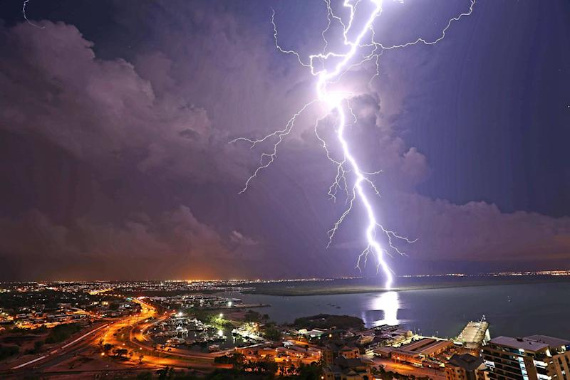 Lightning over Darwin on Wednesday night