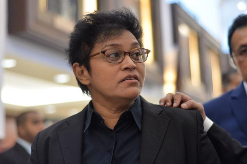 Pengerang MP Datuk Seri Azalina Othman speaks to reporters at Parliament in Kuala Lumpur July 18, 2019. ― Picture by Mukhriz Hazim