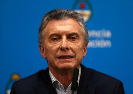 FILE PHOTO: Argentina's President Mauricio Macri attends a news conference in Buenos Aires
