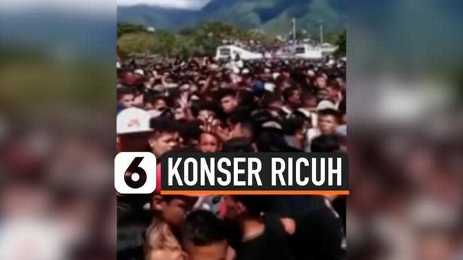 VIDEO: Tiga Orang Tewas Saat Nonton Konser di Venezuela