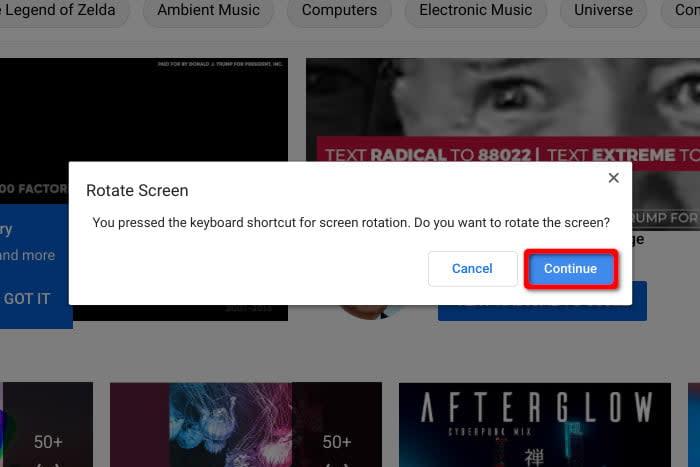 Chromebook Rotate Screen Prompt