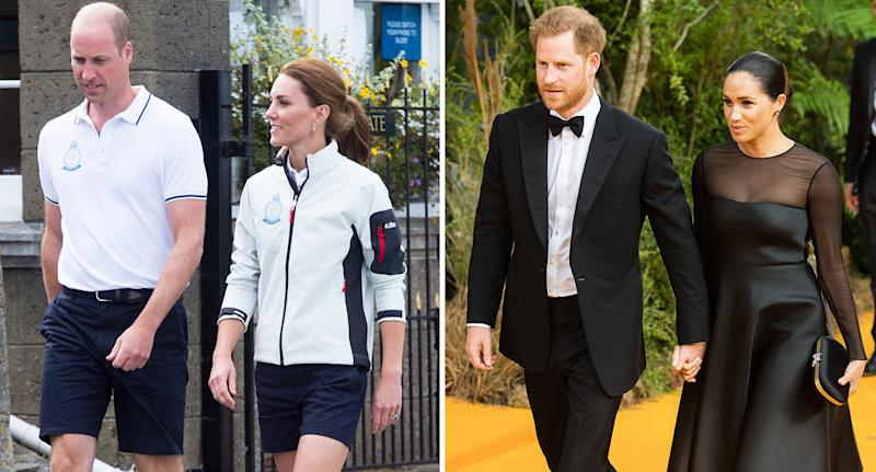 The Duke and Duchess of Cambridge and the Duke and Duchess of Sussex have formally split their charity. [Photo: Getty]