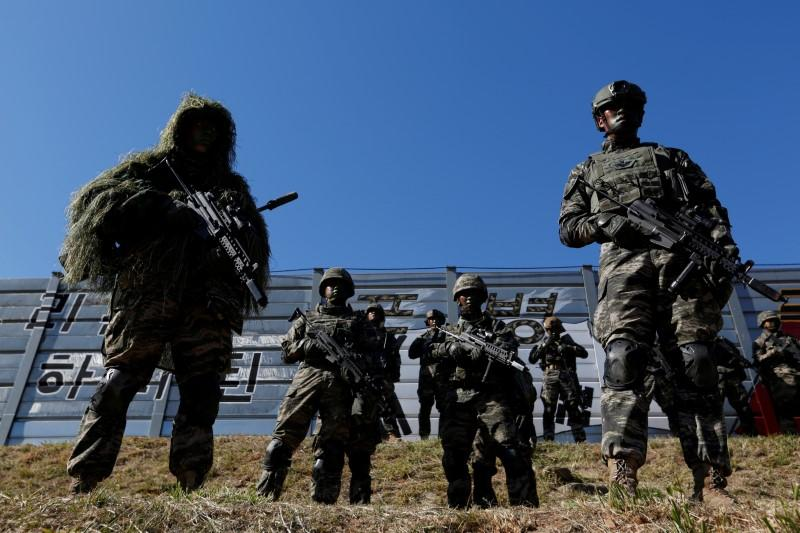 FILE PHOTO: South Korean marines in action