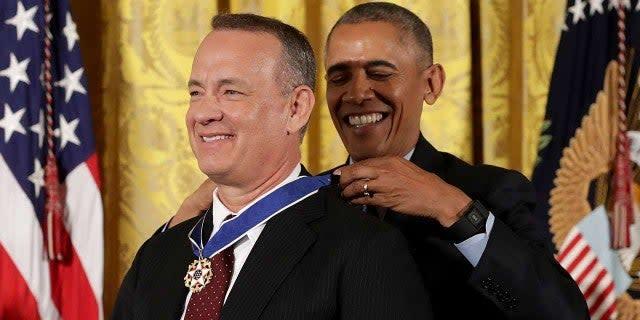 Tom Hanks and Barack Obama