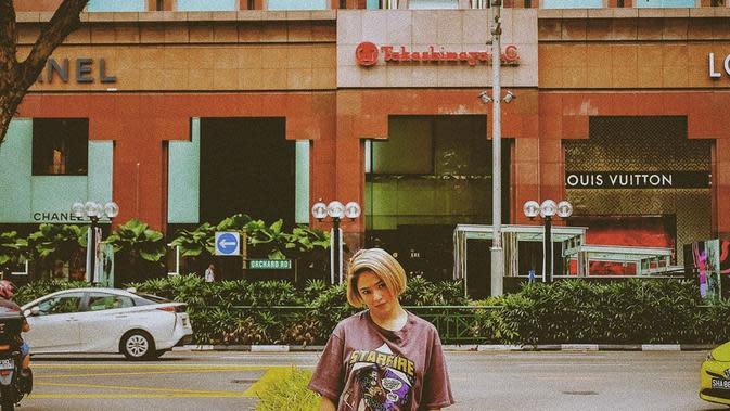 Potret Marshanda dengan Rambut Pendek. (Sumber: Instagram.com/marshanda99)