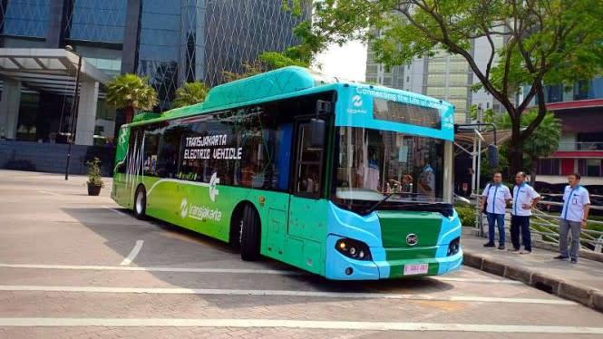 2 Bus Listrik EV1 Dinyatakan Penuhi Standar Operasional TransJakarta