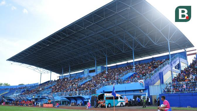 Stadion Kanjuruhan, Kabupaten Malang, yang menjadi markas Arema FC. (Bola.com/Iwan Setiawan)