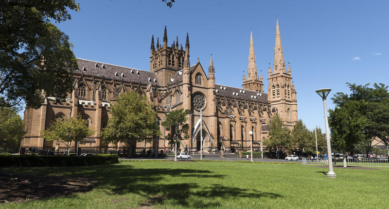 Saint Mary's cathedral in Hyde Park rolled out their
