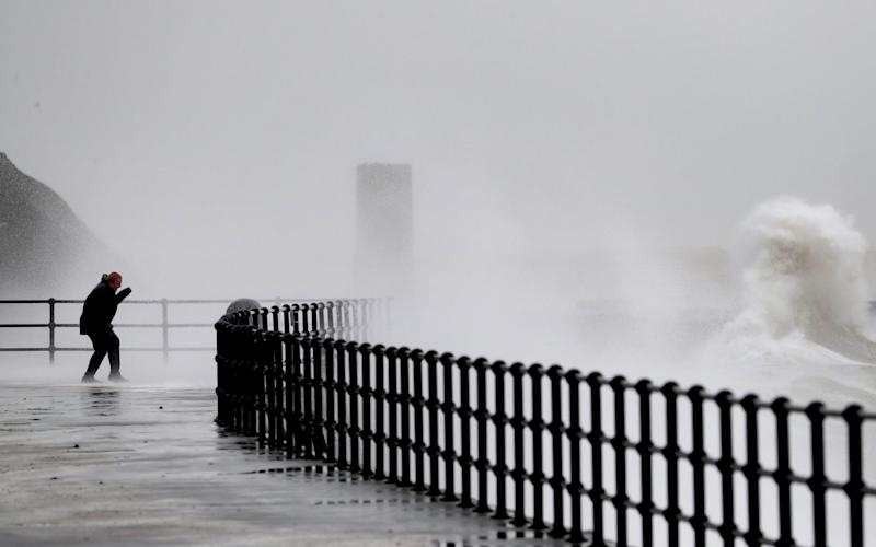 Strong winds and rain blasted the Kent coast - GARETH FULLER/PA