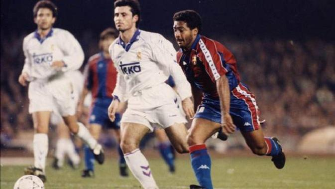 Romario cetak hattrick ke gawang Real Madrid di El Clasico musim 1993/94 (Dok. Barcelona)