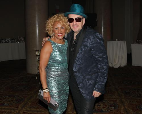 "Singers Darlene Love and Elvis Costello attend the ""Right To Rock Benefit"" at Cipriani Wall Street, on Thursday, Oct. 17, 2013 in New York. (Photo by Greg Allen/Invision/AP)"