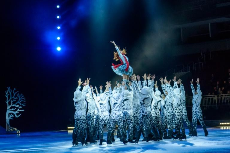 Cirque du Soleil  performs its show CRYSTAL on January 15, 2020 at Arena Riga, Latvia