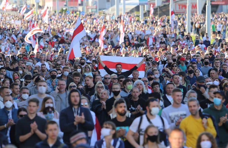 Mass rallies and police data leaks in Belarus keep pressure on Lukashenko