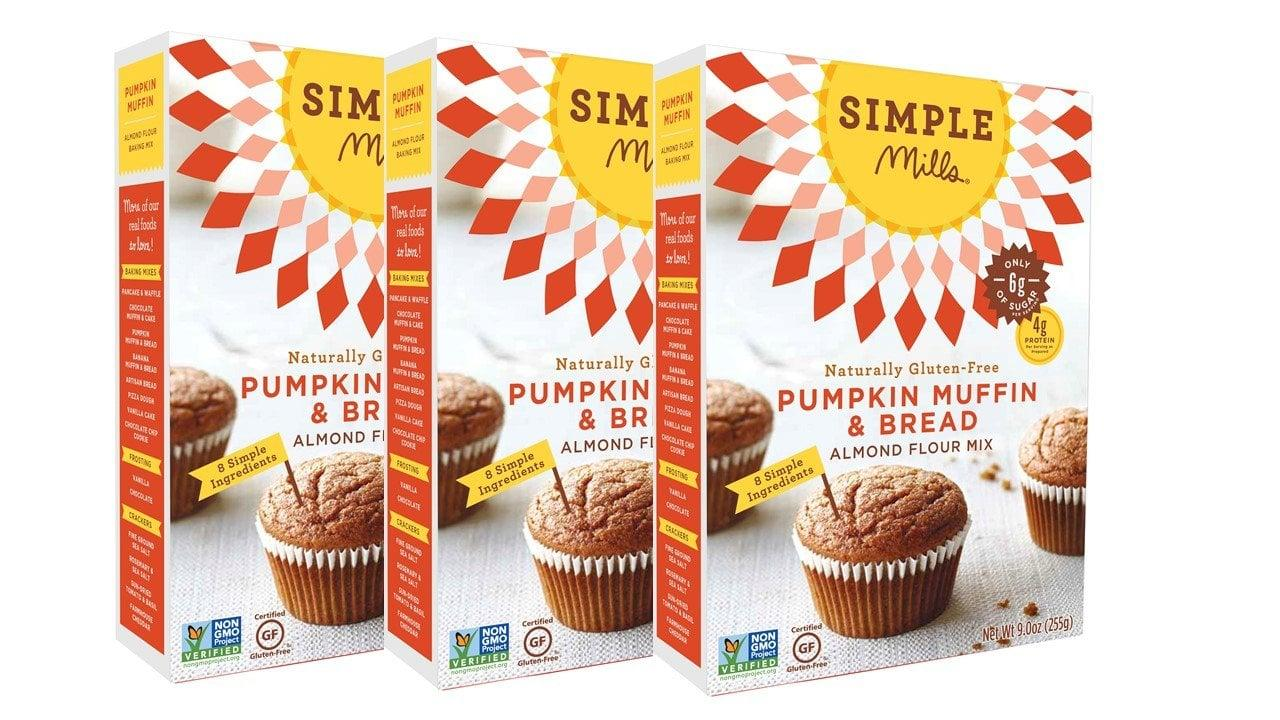 "<p>Make your own treats with this <a href=""https://www.popsugar.com/buy/Simple-Mills-Almond-Flour-Mix-Pumpkin-Muffin-amp-Bread-485193?p_name=Simple%20Mills%20Almond%20Flour%20Mix%2C%20Pumpkin%20Muffin%20%26amp%3B%20Bread&retailer=amazon.com&pid=485193&price=21&evar1=yum%3Aus&evar9=46556985&evar98=https%3A%2F%2Fwww.popsugar.com%2Fphoto-gallery%2F46556985%2Fimage%2F46556993%2FSimple-Mills-Almond-Flour-Mix-Pumpkin-Muffin-Bread&list1=shopping%2Camazon%2Cfall%2Cdessert%2Cpumpkin%20spice%2Cfall%20food&prop13=api&pdata=1"" rel=""nofollow"" data-shoppable-link=""1"" target=""_blank"" class=""ga-track"" data-ga-category=""Related"" data-ga-label=""https://www.amazon.com/Simple-Mills-Almond-Pumpkin-Muffin/dp/B00DB8KKDK/ref=sr_1_151?keywords=pumpkin%2Bspice&amp;qid=1567011649&amp;s=gateway&amp;sr=8-151&amp;th=1"" data-ga-action=""In-Line Links"">Simple Mills Almond Flour Mix, Pumpkin Muffin &amp; Bread</a> ($21 for three).</p>"