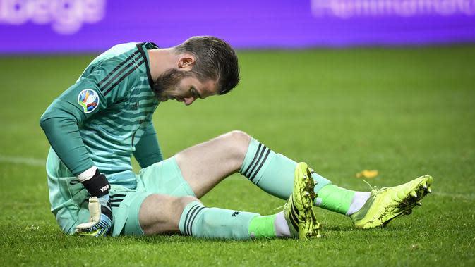 David de Gea blunder lagi dengan Timnas Spanyol saat melawan Ukraina (AFP)