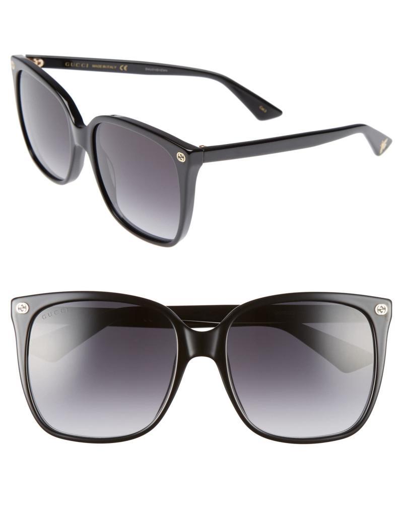 Gucci 57mm Square Sunglasses. Image via Nordstrom.