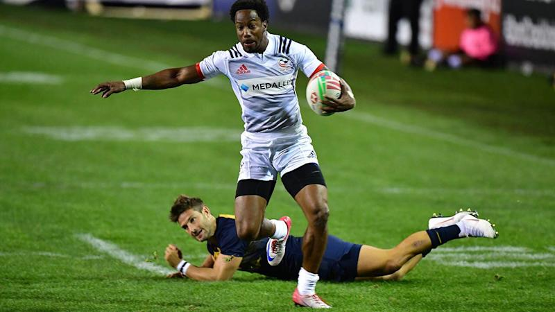 Carlin Isles in action. (Photo by Frederic J. BROWN / AFP) (Photo credit should read FREDERIC J. BROWN/AFP/Getty Images)