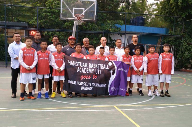 Hangtuah ambil bagian dalam turnamen basket KU-11 di Bangkok