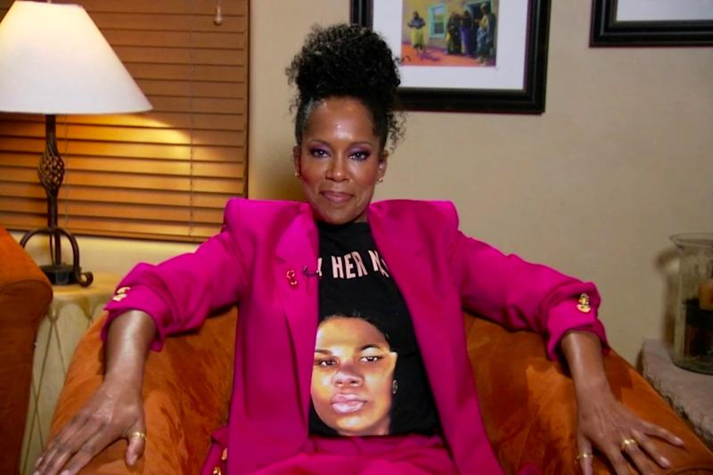 Watchmen star Regina King wore a t-shirt demanding justice for Breonna Taylor (American Broadcasting Companies,)