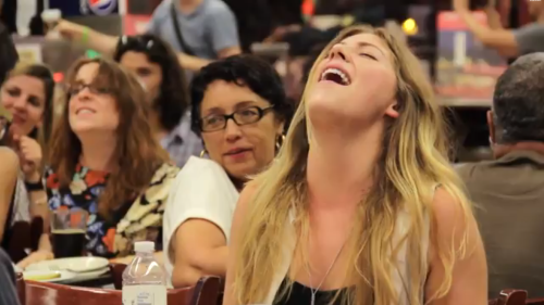 Flash Mob of Women Moan for Their Supper, Meg Ryan-Style
