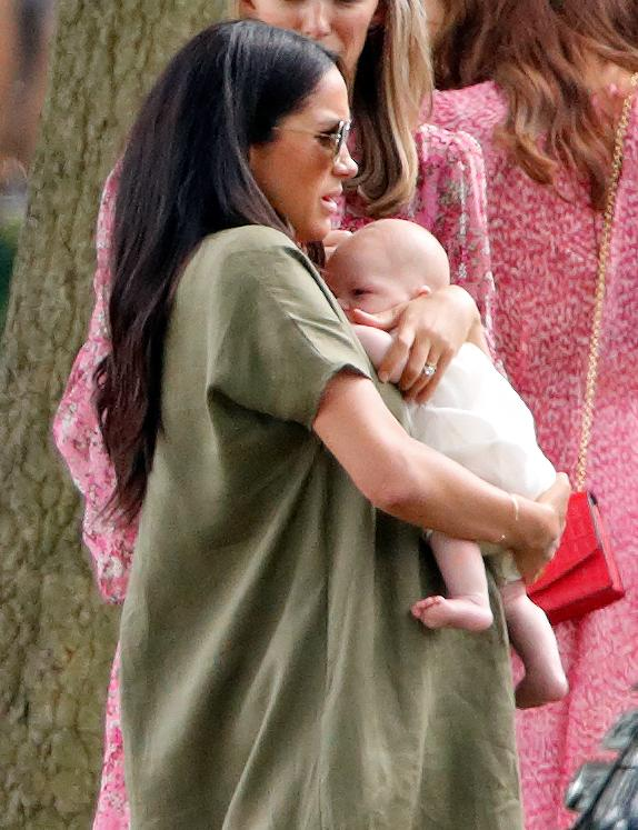 Meghan Markle has been mum-shamed for the way she held baby Archie yesterday [Photo: Getty]