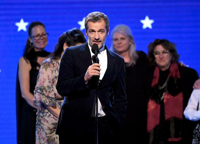 David Heyman accepts the Best Picture award for 'Once Upon a Time in Hollywood' during the 25th Annual Critics' Choice Awards. (Photo by Kevin Winter/Getty Images for Critics Choice Association)